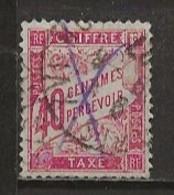 FRANCE:, Obl., TAXE N° YT 35, B - Postage Due