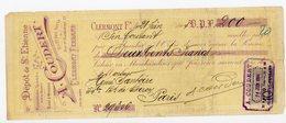LOIRE MANDAT 1904 COUDERT DEPOT DE ST ETIENNE LOIRE MAISON A 21,23 RUE NEUVE A CLERMONT FERRAND PUY DE DOME TIMBRE FISCA - Documentos Históricos