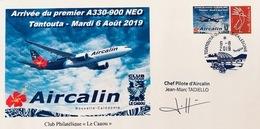 NOUVELLE CALEDONIE (New Caledonia)- Enveloppe événementielle Avec Timbre Personnalisé - 2019 - Airbus - Aircalin - Covers & Documents