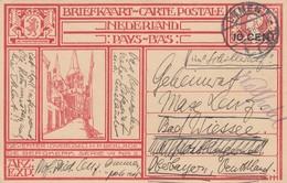CARTE PAYS-BAS. OMNEN. 24 8 1928. ENTIER 10c POUR L'ALLEMAGNE - Entiers Postaux