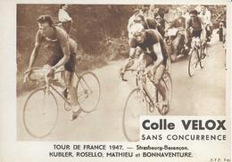 Tour De France 1947   Strasbourg-besançon  Kubler,rosello,mathieu Et Bonnaventure - Wielrennen