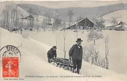 88-BUSSANG- LA ROCHOTTE- LES MOYENS DE TRANSPORT EN HIVER, LA SCHLITTE - Bussang