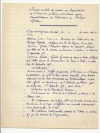 Agrandissement Du Laboratoire De Biologie Végétale De Fontainebleau : PV (document De 4 Pages) - 1917 - Documents Historiques