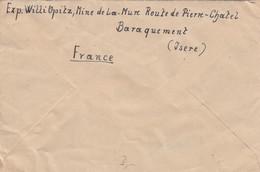 LETTRE. 13 3 48. MINE DE LA MURE BARAQUEMENT ISERE. POUR GOTHA ALLEMAGNE - 1906-38 Säerin, Untergrund Glatt
