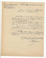 Agrandissement Du Laboratoire De Biologie Végétale De Fontainebleau : Courrier Des Eaux Et Forêts - 1917 - Documents Historiques