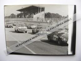 Simca 1000 Alpine A110 Berlinette Et Autres Sur Le Circuit De Montlhery Photo Originale - Automobiles