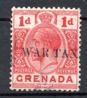 GRENADE - (Colonie Britannique) - 1916 - N° 81A - 1 P. Rouge - (Surchargé WAR TAX - Type I) - América Central
