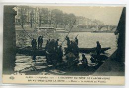 75 PARIS Pont De L'Archeveché  Accident Autobus 11 Morts 27 Sept 1911 Recherche Des Victimes    D12 2017 - Arrondissement: 05