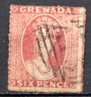 GRENADE - (Colonie Britannique) - 1863-71 - N° 4 - 6 P. Rouge-orange - (Victoria) - América Central