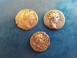 EMPIRE ROMAIN DENIERS EMPEREURS : AUGUSTE - ANTONIN - JUBA II - LOT DE 3 MONNAIES - 1. Les Julio-Claudiens (-27 à 69)