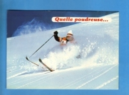 Sports - Sports D'Hiver - Ski - Carte Vierge - Sports D'hiver