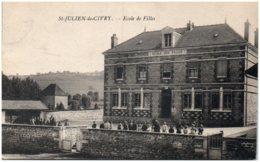 71 SAINT-JULIEN-de-CIVRY - Ecole De Filles - Frankrijk