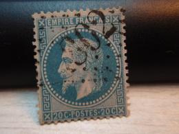 Timbre Empire Français 20 C. Napoléon III  Lauré. 29 B Oblitéré. 302 - 1863-1870 Napoleon III With Laurels