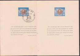 Karl Marx 84 Pfg. Seite Aus Gedenkheftchen Ungebraucht Bzw. Mit SoSt. BERLIN W8 23.12.53, Stalinallee - Covers