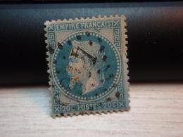 Timbre Empire Français 20 C. Napoléon III  Lauré. 29 A Oblitéré. 4166 - 1863-1870 Napoleon III With Laurels