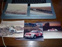 6 Photos Originales Porsche 911 Rallye Des Ardennes 1985 Natoye Jean-Louis Dumont + Lieu Accident Et Autre Porsche - Automobili