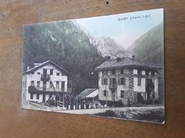 Cartolina Postale, Postcard 1924, Valle D'Aosta, Gaby, Valle Lys - Italie