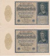 PAREJA CORRELATIVA DE ALEMANIA DE 10000 MARK DEL AÑO 1922 EN CALIDAD EBC (XF) (BANKNOTE) - 10000 Mark
