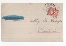 Graauw Langebalk - 1909 - Poststempel