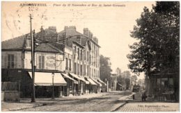 95 ARGENTEUIL - Place Du 11 Novembre Et Rue De Saint-Germain - Argenteuil