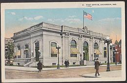 Anderson IND. Postoffice CAK 1922 Postgebäude Mit Flagge - Anderson