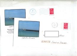 Pap Lamouche Flamme Bleue 34371A Et Muette Saint Vincent Illustré Capbreton Phare - Postal Stamped Stationery