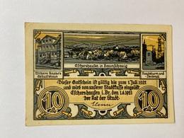 Allemagne Notgeld Eschershausen 10 Pfennig - [ 3] 1918-1933 : République De Weimar
