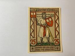 Allemagne Notgeld Wartburg 25 Pfennig - [ 3] 1918-1933 : République De Weimar
