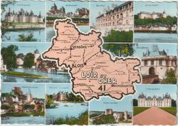 Loir Et Cher : Carte  Géographique : Blois,montrichard,st Aignan,chaumont,cheverny,vendôme,selles /cher,montoire...... - France