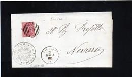 CG31 - Ann. A Sbarre N.2350 + Bollo Cerchio Gr. 21/3/1888 - Lett. Da Trino X Novara - No Testo - 1878-00 Umberto I