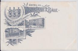 BÂLE BASEL - Cpa Litho Hôtel Des Trois Rois Flück Propriétaire - BS Basle-Town