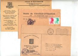 Lot 9  Lettres Franchise Flamme  Entete Mairie Haut Rhin à Voir - Mechanical Postmarks (Advertisement)
