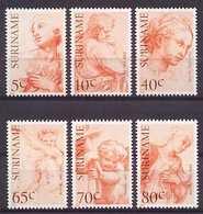 Republiek Suriname Nr 342/347 Postfris/MNH 500ste Geboortedag Italiaanse Schilder Rafael, Painter, Peintre 1983 - Suriname