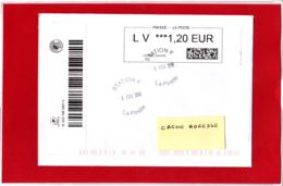 ATM / CALISE Lettre Suivie  LV 1,20 €, Sur Lettre Voyégée Obl Station F 06/02/2018 - 2010-... Vignettes Illustrées