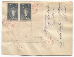 N° 352 PAIRE BDF  C. PERLE ROUGE  VALROS 3.4..1939 HERAULT LETTRE - Marcophilie (Lettres)