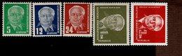 DDR 322 326 Wilhelm Pieck II Postfrisch ** MNH Neuf - Neufs