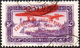 Syrie Obl. N° PA  47 - Surcharge D'un Avion Sur 5pi Violet, Exposition De Damas - Syrie (1919-1945)