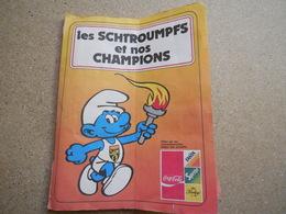 Les Schtroumpfs (smurf) Et Nos Champions, Capsules Bouteille Coca Fanta Sprite, Pour Les Jeux Olympiques De 1980 - Sonstige