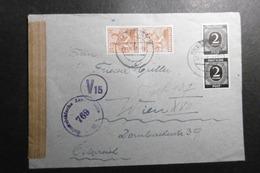 Kontrollrat Mi. 912(2) + 951(2) Zensurbrief 4.4.1948 Erfurt-Wien - American,British And Russian Zone