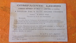 CHROMO    COMPAGNIE LIEBIG  LONDRES LIEBIG S EXTRACT OF MEAT D HONNEUR 5 MEDAILLES OR COUVENT DE ND DES ORPHELINES - Liebig