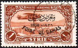 Syrie Obl. N° PA  69 B - Surcharge Foire De Damas Sur 1pi Brun-jaune - Syrie (1919-1945)