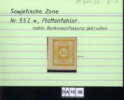 SBZ, Ost - Sachsen, 5 Lose, 57 , PLF / Abart - Siehe Foto U.a. - Zone Soviétique