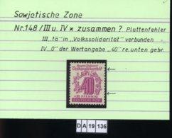SBZ, West-Sachsen, 6 Lose, 148 III + IV , PLF / Abart - Siehe Foto U.a. - Zone Soviétique