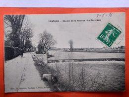 CPA (95)  Pontoise. Chemin De La Pelouse.Le Déversoir.  (O.849) - Pontoise