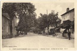 CPA DE PORT-SAINTE-MARIE  (LOT ET GARONNE)  AVENUE DE LA GARE - Autres Communes