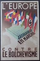 """1591/693 - 1942 - TYPE PETAIN - N°509 Seul Sur CP """" L'EUROPE CONTRE LE BOLCHEVISME """" (pliure Légère) - 1941-42 Pétain"""