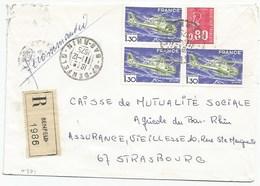 H371 - BAS RHIN - BENFELD - 1975 - ROND Avec CODE POSTAL 67 - Recommandé - - Marcophilie (Lettres)