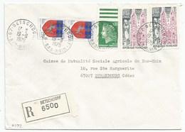 H372 - BAS RHIN - BETSCHDORF - 1975 - ROND Avec CODE POSTAL 67 - Recommandé - - Marcophilie (Lettres)