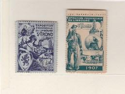 Vignettes/ Sluitzegels.Sint Truiden; Exposition Provinciale Du Limbourg 1907. - Vieux Papiers