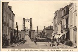 CPA DE PORT-SAINTE-MARIE  (LOT ET GARONNE)  ENTREE DU PONT SUSPENDU - Autres Communes
